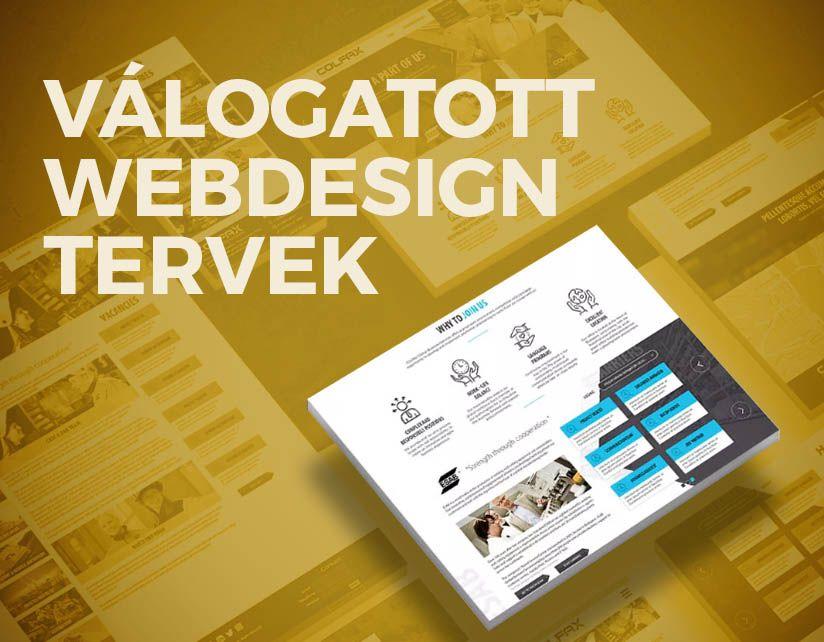 valogatott webdesign tervek webdesign tervezés