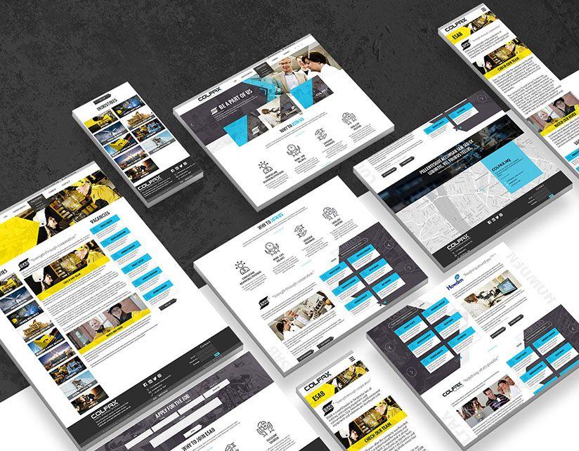 Colfax Esab reszponziv webdesign tervezés és arculati munkák