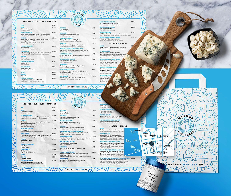 étterem arculattervezés arculat tervezés étteremnek, névjegykártya, reklámzacskó