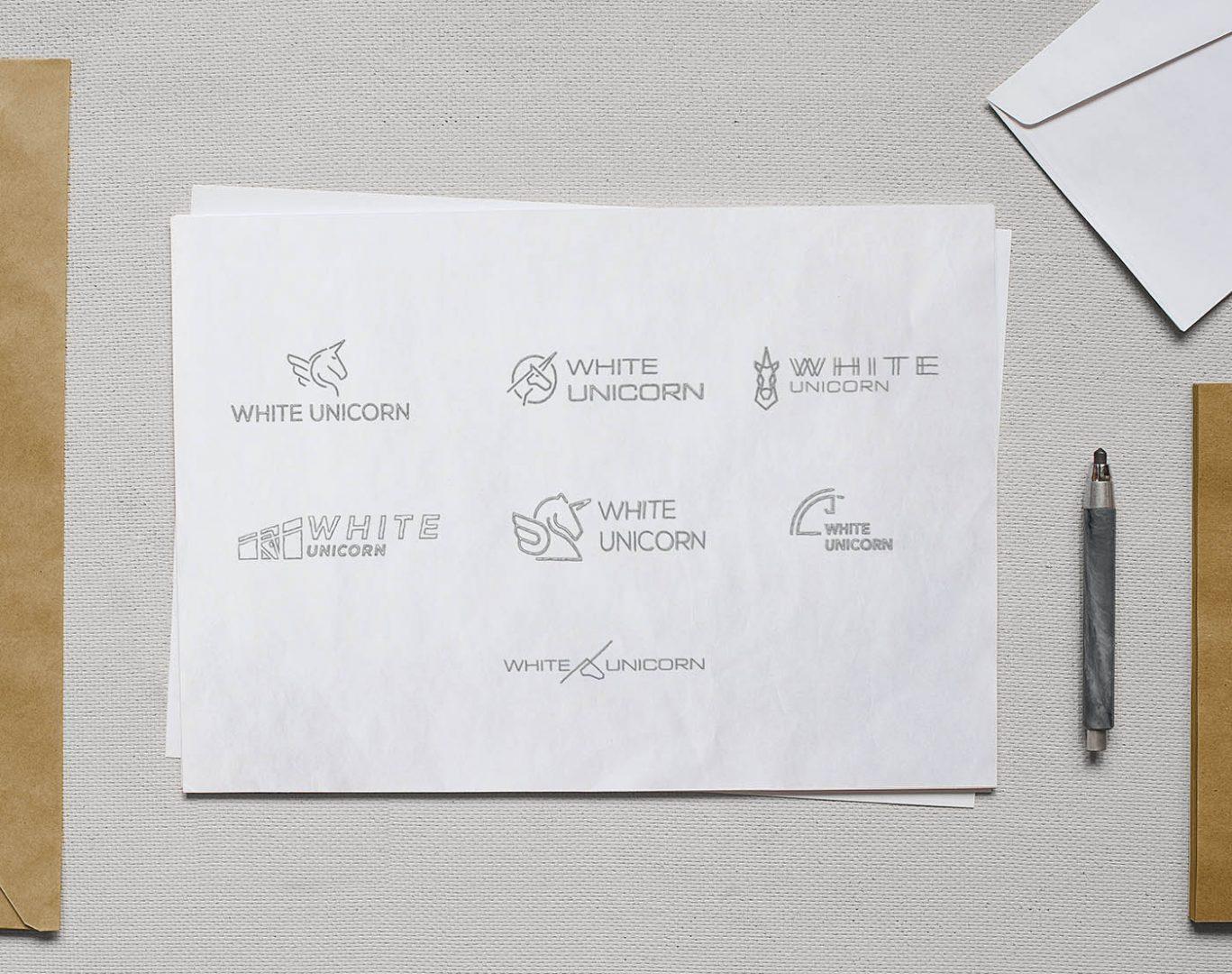 startup unicorn logo plans logótervek
