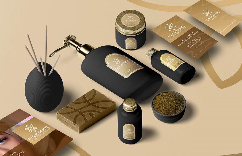 kozmatikai salon arculat megjelenés tervezés kozmetikai termék