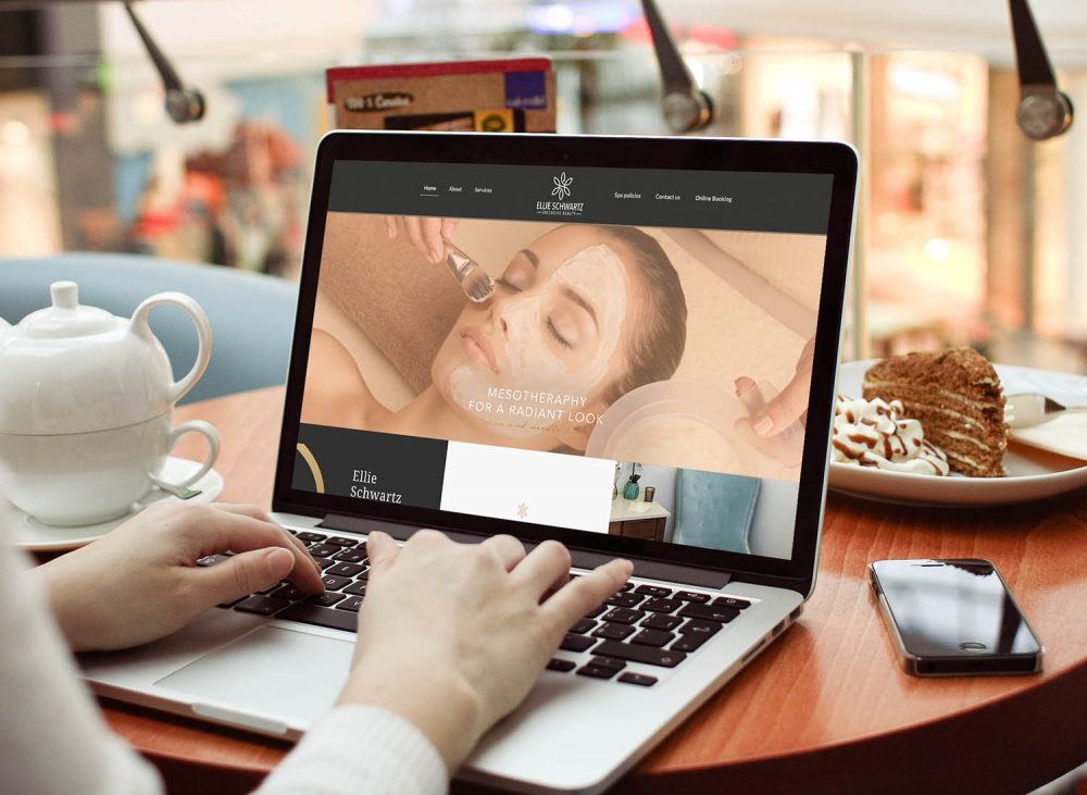 kozmetikai design szalon weblap weboldal arculat