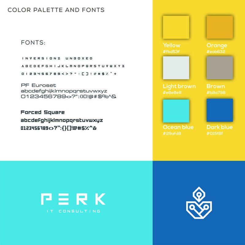 perk consulting brand identity logo moodboard concept