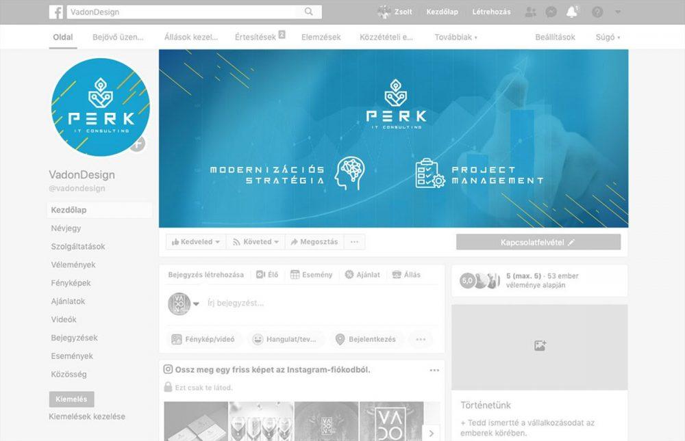 perk consulting brand identity logo moodboard concept fb facebook design