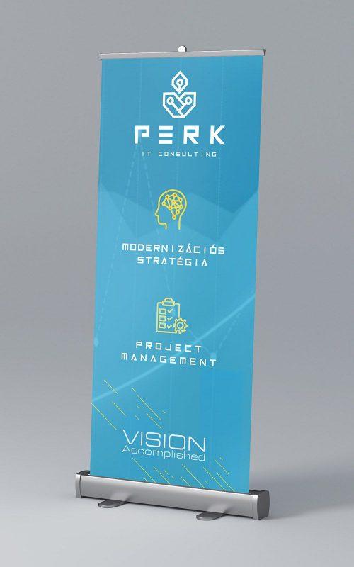 perk consulting brand identity logo moodboard concept rollup design